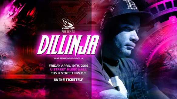 3d presents dillinja at u hall