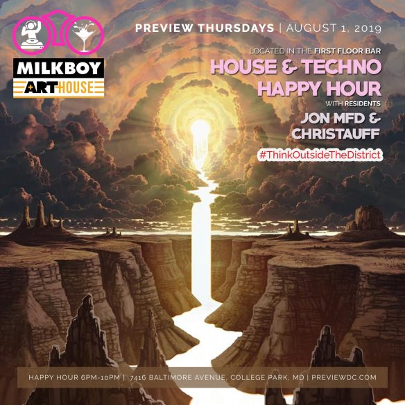 preview house and techno happy hour