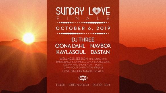 sunday love finale dj three oona dahl