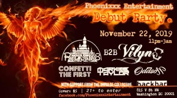 phoenix entertainment debut party