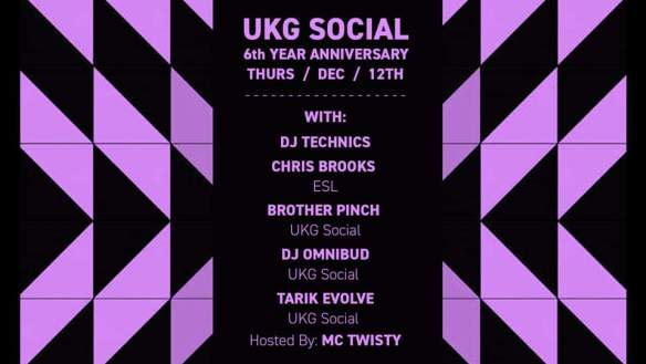 UK Garage Social dec 12
