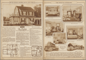 "Pages from 1925 Sears ""Honor Bilt"" Modern Homes catalog"