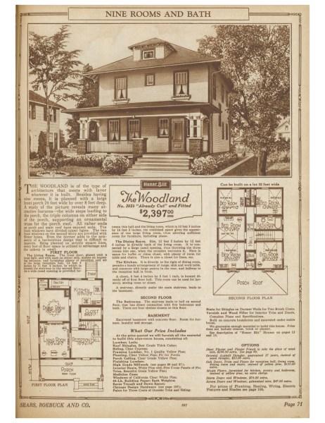 Woodland - 1925 Sears Honor Bilt Homes