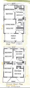 Aladdin Kit house floor plan