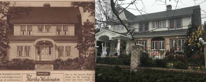 "Historic ""Martha Washington"" Sears house in Forest Hills, before and after"