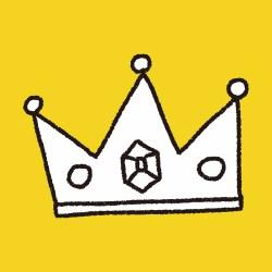 Doodle King Crown, illustration vector eps , Children's crayon drawing stylen.