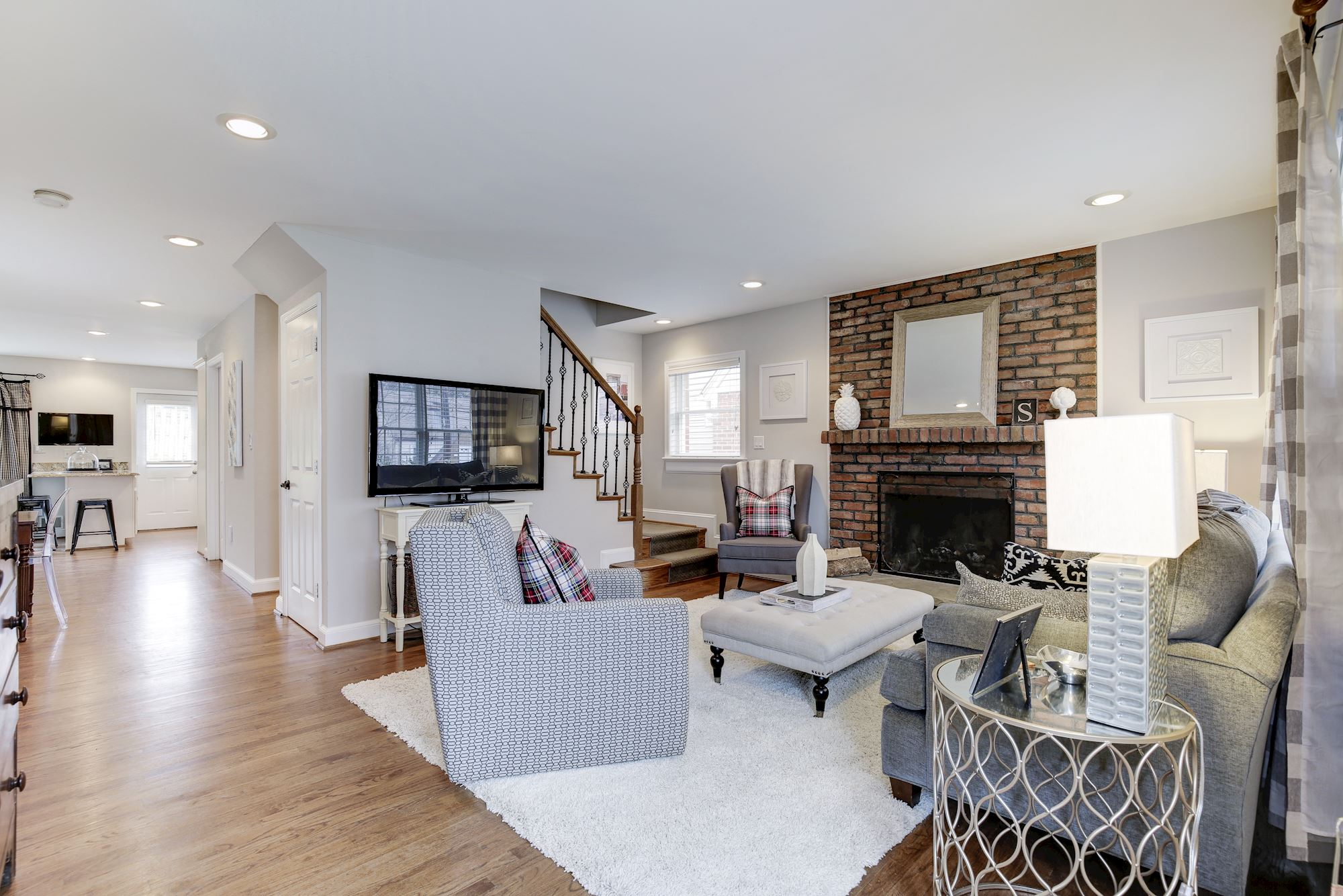There Is A Wood Burning Fireplace In The Living Room, A Great Laundry Room  On The First Floor, And Extra Storage Can Be Found Everywhere.