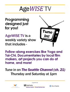 AgeWise TV flyer