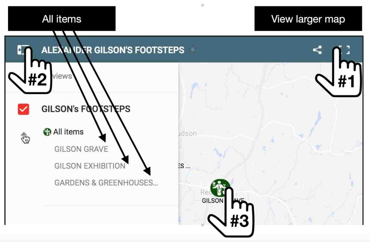 Gilson Map Instructions