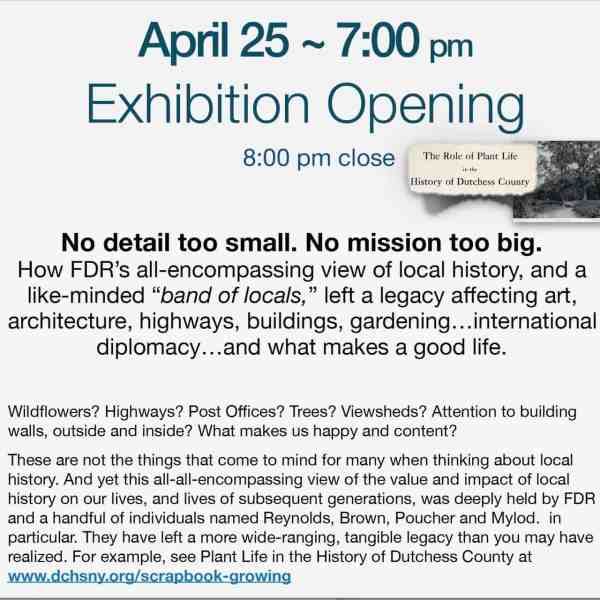 APRIL 25 EXHIBITION OPENING