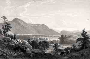 James Smillie after Asher Brown Durand. Dover Plains, 1850. From Gallery of American Art, No. 1. Etching and engraving on buff wove paper. Friends of the Davison Art Center funds donated by John E. Andrus III (B.A. Wesleyan 1933), 1994. DAC accession no. 1994.13.2.2. DAC Open Access Image from the Davison Art Center, Wesleyan University. http://www.wesleyan.edu/dac/openaccess (photo: T. Rodriguez).  See http://dac-collection.wesleyan.edu/obj12913 for more object information.