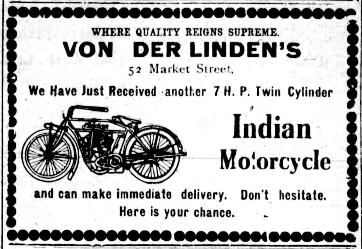 Von Der Lindens 1912 MotorcycleAd 4wheels