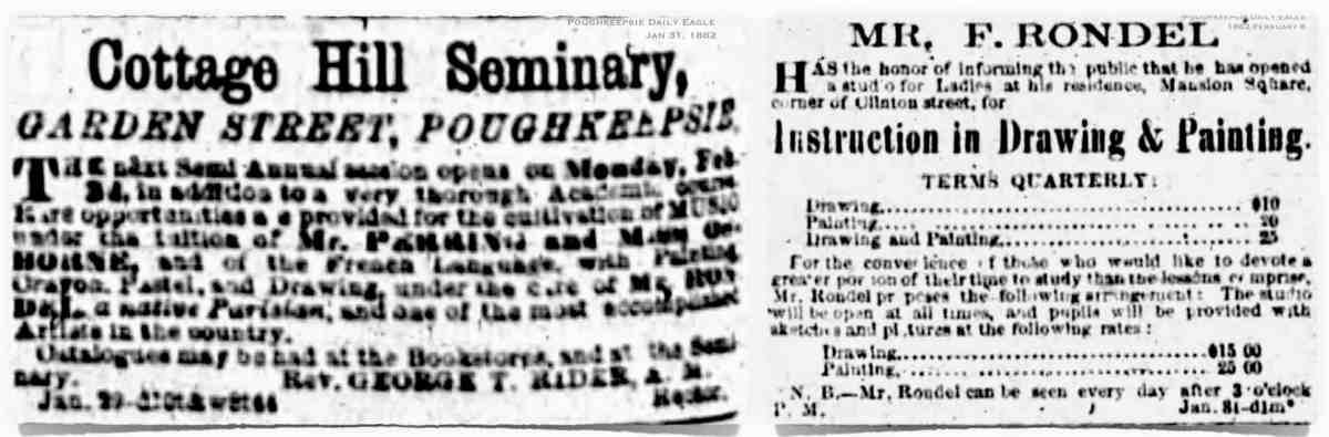 Rondel 1862 advertisements