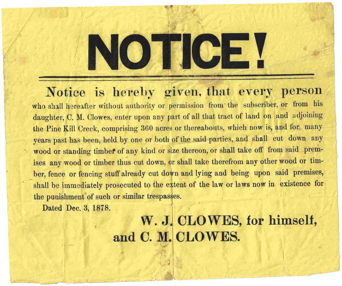 Clowes 1878 No Trespassing