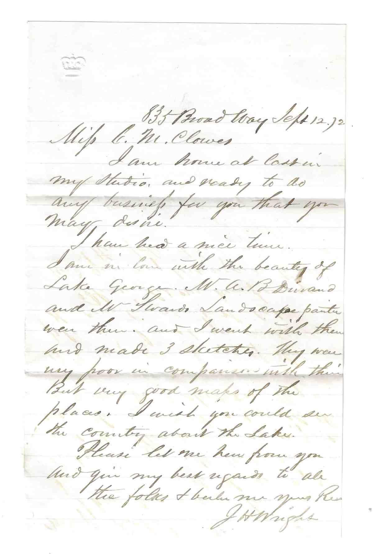 CMCE J H Wright 1872 SEP 12