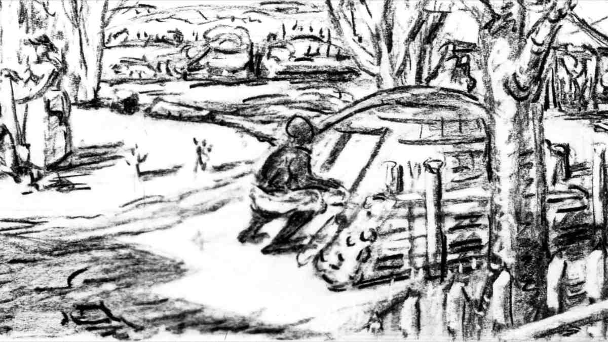 Rhinebeck PO Dows Sketch
