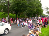 Marchers at the Palisades Parade
