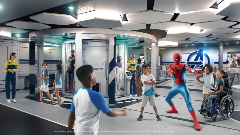 Disney Wish - Disney's Oceaneer Club - Marvel Super Hero Academy