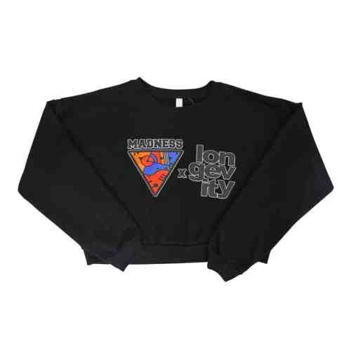 black crop Universal Madness sweatshirt