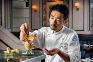 Executive Chef Gyo Santa at the Willard Intercontinental Hotel
