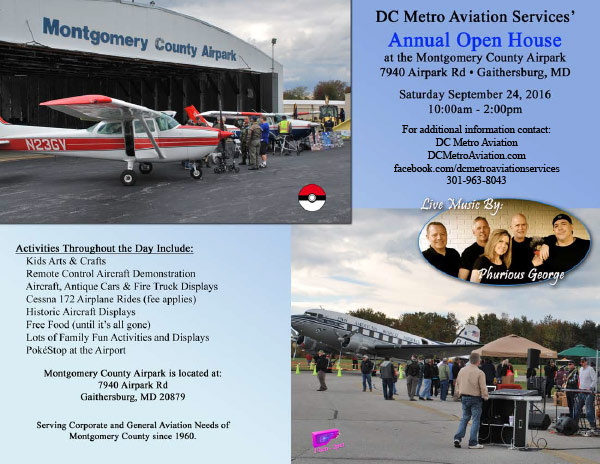 Annual Open House At The Montgomery County Airpark  Free Open House Flyers