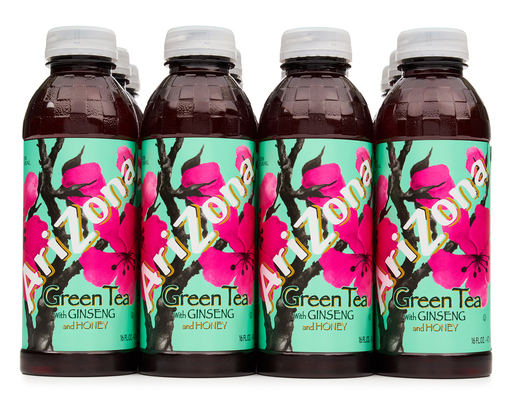 AriZona Green Tea With Ginseng Honey 12 x 16 oz Boxed