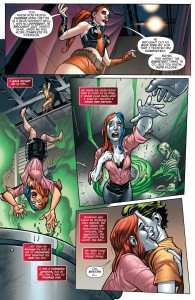 SECRET ORIGINS #4 - Harley Quinn gets skin bleached by the Joker