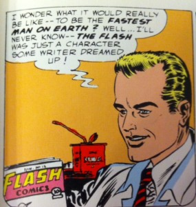 Showcase 4 Barry reading Flash Comics