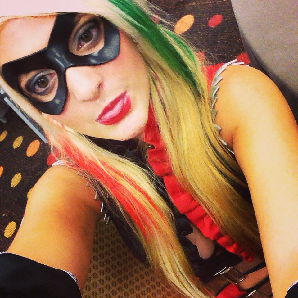 Adrienne Brynteson as Harley Quinn at Dragon Con 2014