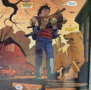 Lois and Clark 1 jon with wood