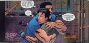 Grayson Annual 2 Supes hugging Grayson
