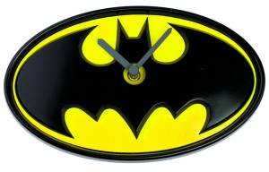 BATMAN LOGO WOBBLE CLOCK $32.95