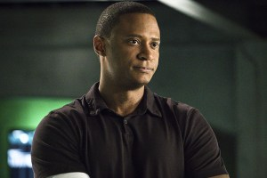 """Arrow -- """"A.W.O.L."""" -- Image AR411A_0177b.jpg -- Pictured: David Ramsey as John Diggle -- Photo: Liane Hentscher/ The CW -- © 2016 The CW Network, LLC. All Rights Reserved."""