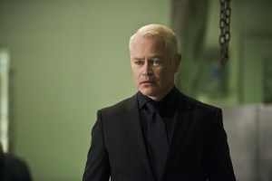 """Arrow -- """"Genesis"""" -- Image AR420a_0341b.jpg -- Pictured: Neal McDonough as Damien Darhk -- Photo: Diyah Pera/The CW -- © 2016 The CW Network, LLC. All Rights Reserved."""