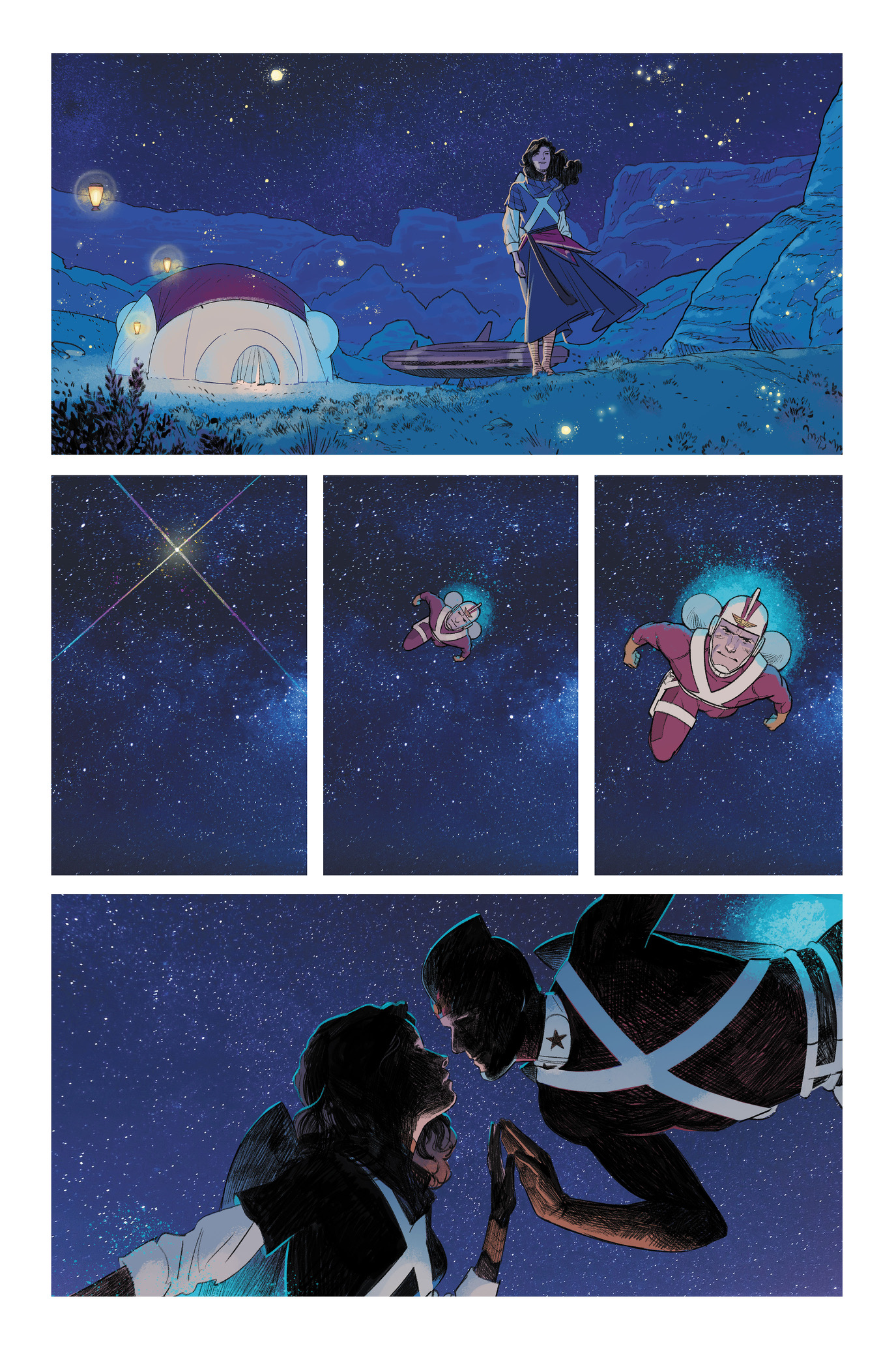 """Strange Adventures #2 is written by Tom King, with art by Mitch Gerads and Evan """"Doc"""" Shaner."""