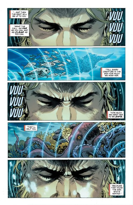 Aquaman using telepathic power