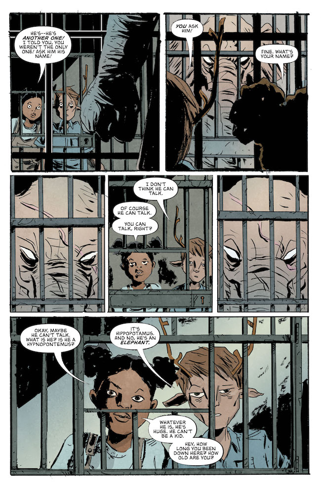 Review-Sweet-Tooth-The-Return-Gus-And-Penny-Meet-An-Elephant-Who-May-Be-A-Friend-DC-Comics-News-Reviews