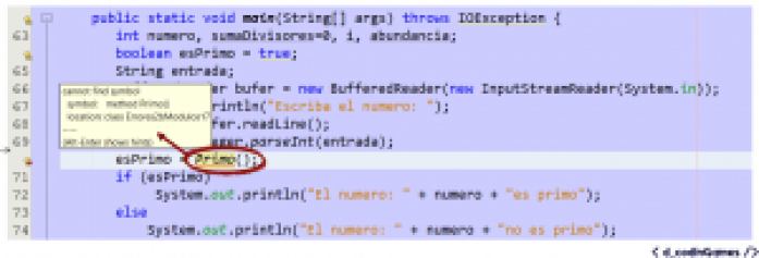 """Error """"No se puede encontrar el símbolo"""" (Ejemplo 2)"""