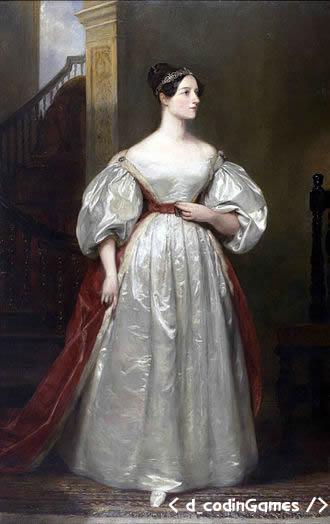 Augusta Ada King, Condesa de Lovelace  - dcodinGames.com