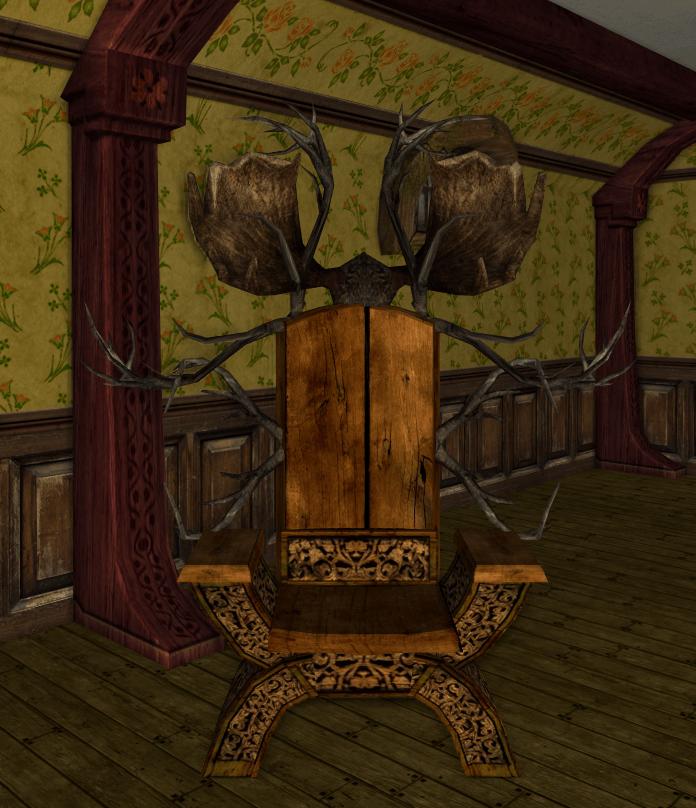 chaise fantaisie des R avec ramures d'élan4