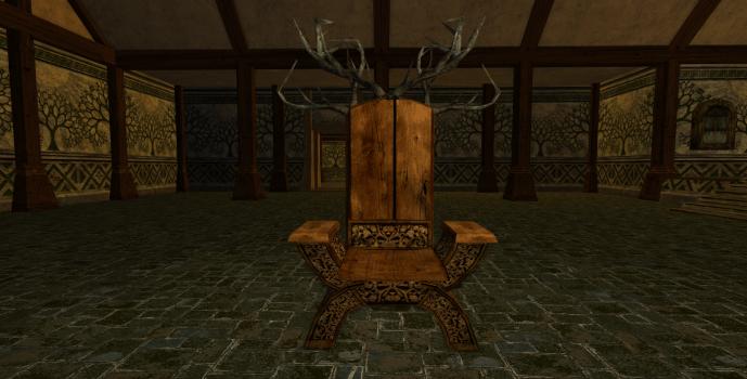 Chaise fantaisie des Rohirrim