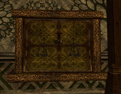 Fenêtre encadrée à double battant des Rohirrim