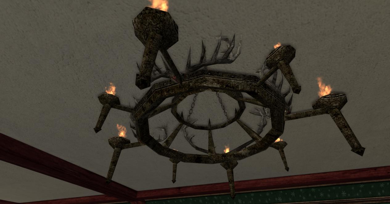 gros chandelier en râmures des R