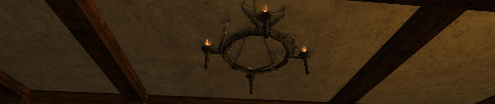 Petit chandelier en ramures des Rohirrim