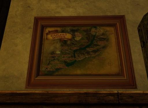 Petite carte de l'Est du Gondor