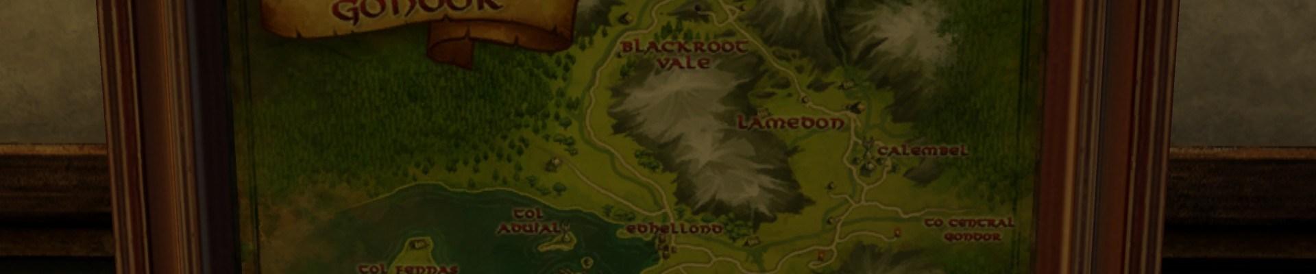 Grande carte de l'Ouest du Gondor