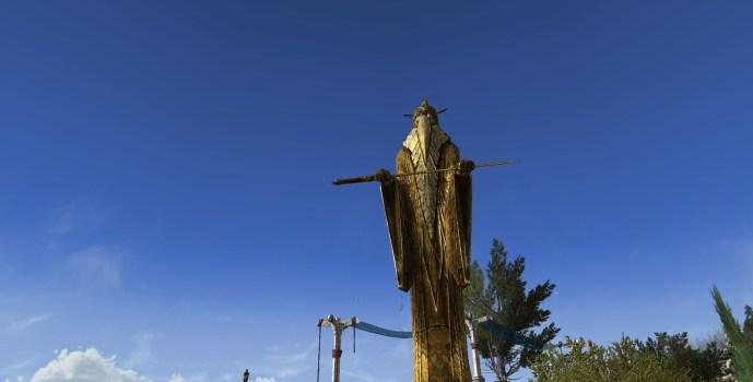 Statue en Or des Rois d'Antan
