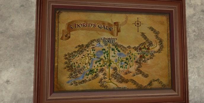 Carte de la Porte de Thorin