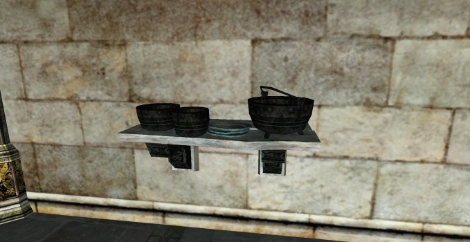 Petite étagère de pots du Gondor