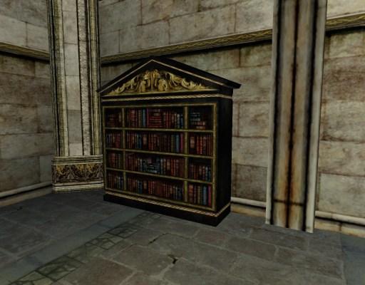 Étagère à livres du Gondor avec arche centrale